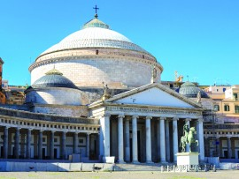 San Francesco di Paola in a summer day in Naples Italy