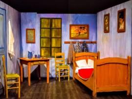 la stanza di VAN GOGH reale in mostra