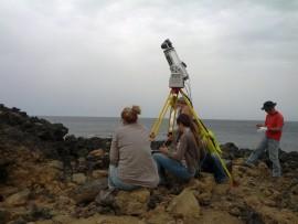 A Pantelleria Massimiliano Marazzi e Sebastiano Tusa con Laserscanner 3D