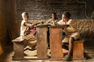 Benin - in the village of Hounkpogon, a local school