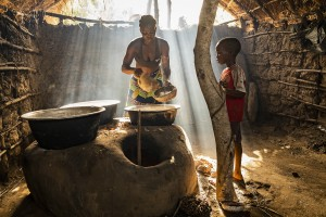 Benin, Ouidah - villages along the shores of Mono river