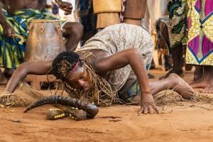 Togo, Amenoudzi village. Here, a voodoo ceremony called Zapata